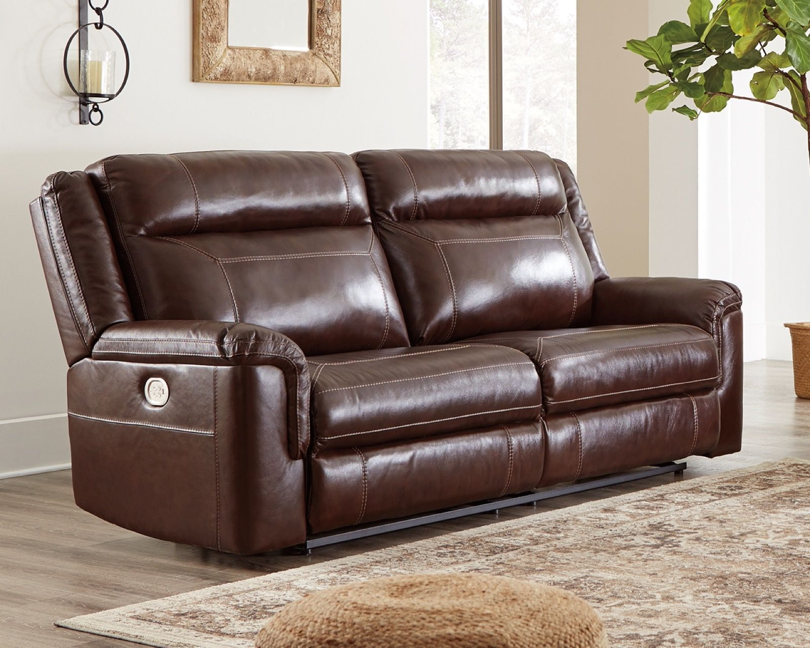 Fine Signature Design Wyline Coffee Power Reclining Sofa With Adjustable Headrest Pdpeps Interior Chair Design Pdpepsorg