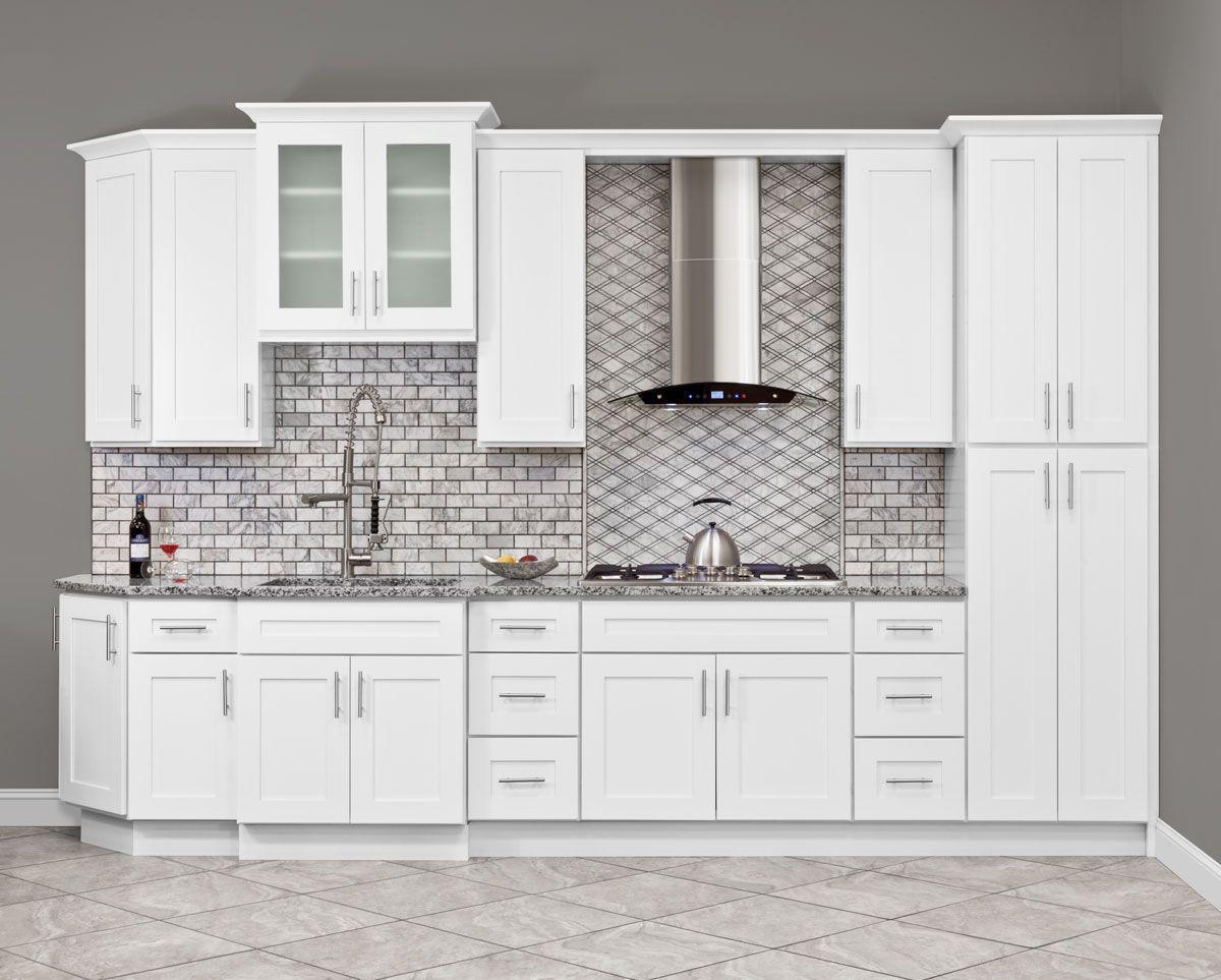 Lesscare Alpina White Cabinets Kitchen