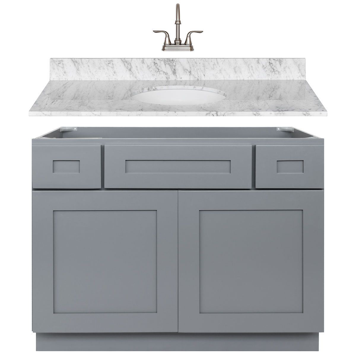 LessCare Colonial Gray Cabinets - Kitchen Cabinets - Kitchen