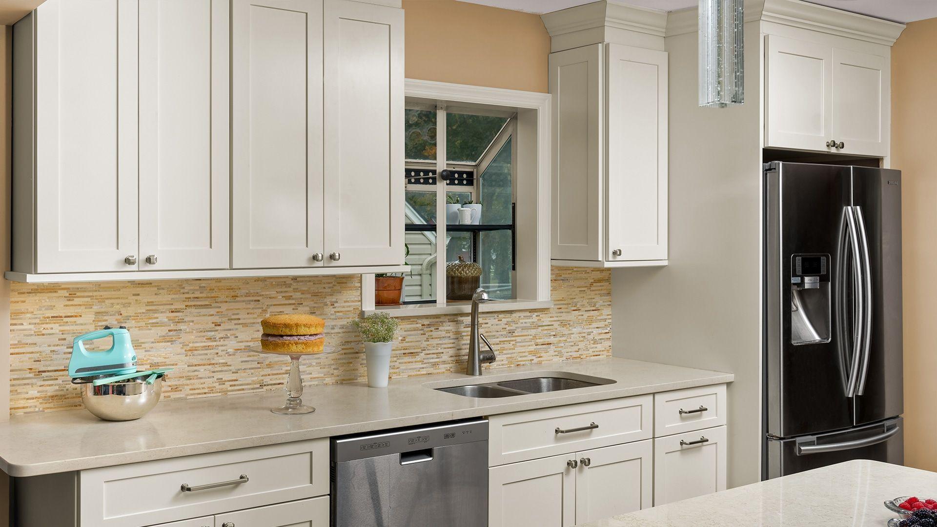 Fabuwood Allure Galaxy Linen Cabinets - Kitchen Cabinets - Kitchen