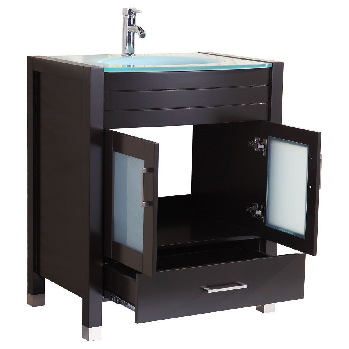LessCare Espresso 29 1/2 in. Wide Single Sink Vanity Set ...