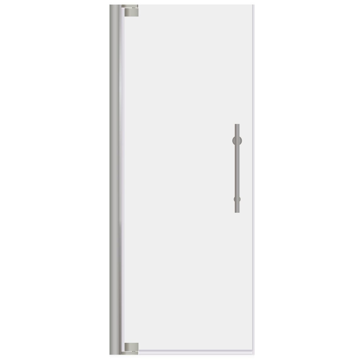 Lesscare Brushed Nickel Ultra G 34 35w X 72h Pivot Swing Out Shower Door