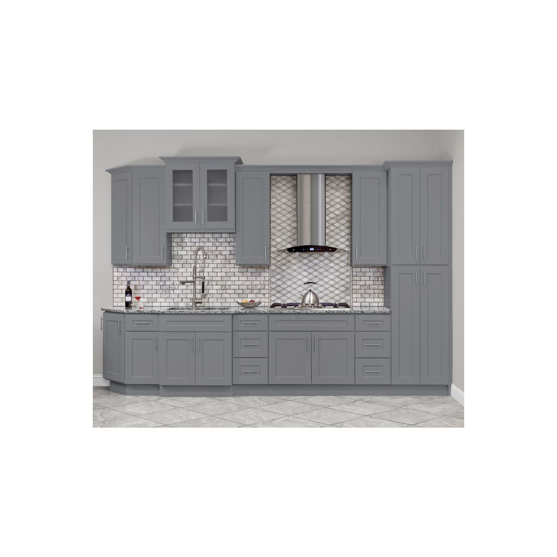 Lesscare Colonial Gray 10 X Kitchen Cabinets