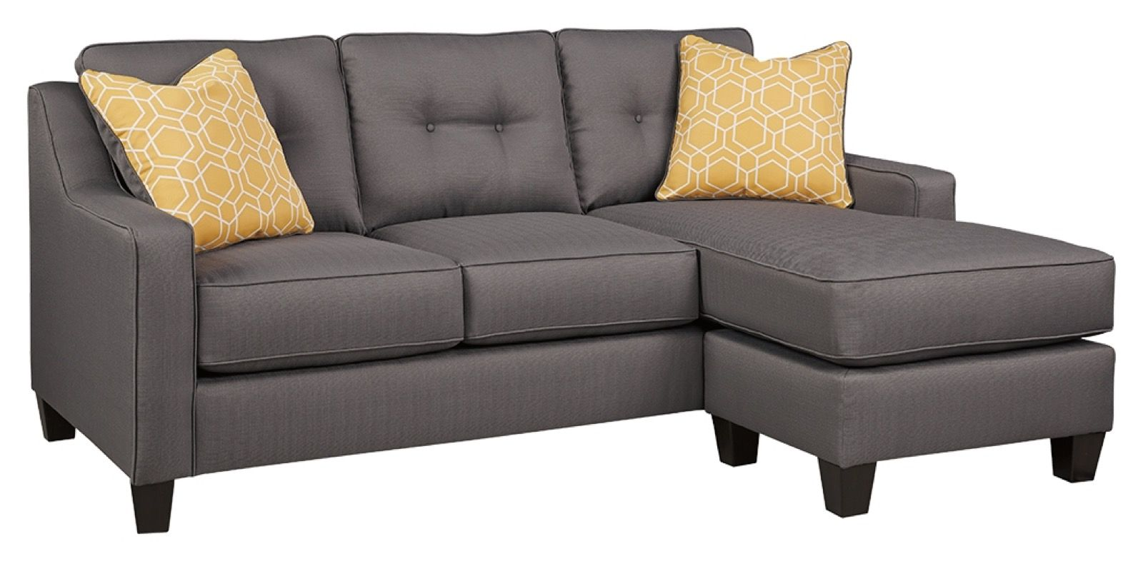 Sensational Benchcraft Aldie Nuvella Gray Queen Sofa Chaise Sleeper Home Interior And Landscaping Ologienasavecom