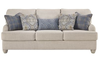 Strange Benchcraft Traemore Linen Queen Sofa Sleeper Sofas Caraccident5 Cool Chair Designs And Ideas Caraccident5Info