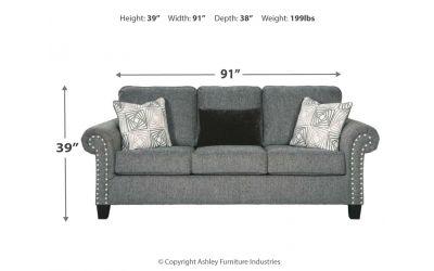 Incredible Benchcraft Agleno Charcoal Queen Sofa Sleeper Cjindustries Chair Design For Home Cjindustriesco